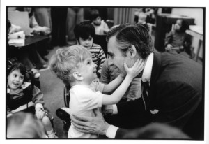 """Fred Rogers (1928 – 2003) was an American educator that hosted the PBS children's show """"Mr. Roger's Neighborhood"""""""