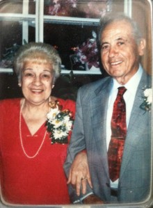 "My Grandparents, Amelia and Anthony (""Breeze"") Fabrizio.  They were married for over 51 years."