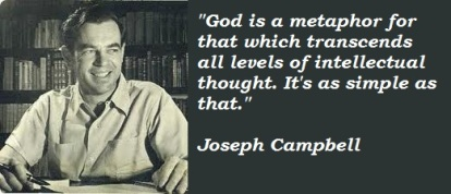 "A quote by mythologist Joseph Campbell that attempts to articulate how ""God"" is present in all things."